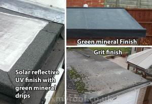Felt roof repair types