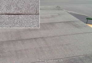Leaking joints on a felt roof