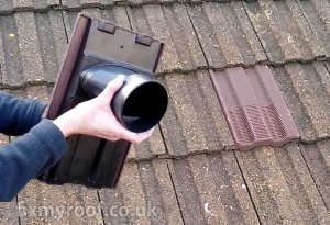 Bathroom vent roof tile