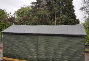 How to felt a long shed roof 1