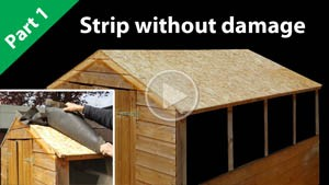 Strip a shed roof
