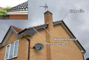 Mortar roof line