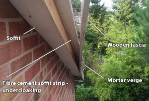 Removing wooden fascias