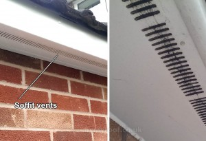 Soffit vents ventilation