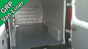 Fibreglass van liner floor
