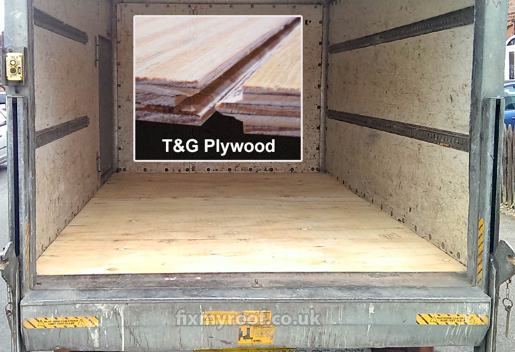Truck bed floor liner plywood