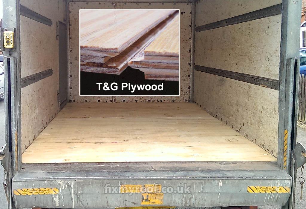 Truck bed floor liner plywood