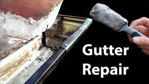 Aluminium gutter repair