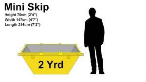 2 Yard mini skip price & size